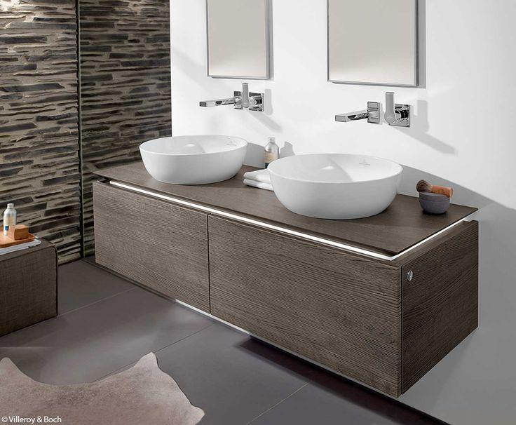info over badkamers dubbele wastafel opbouwkom villeroy & boch