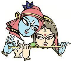 Radha Krishna - Bapu paintings