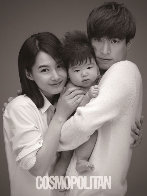 "Sweet photo of Tablo and his wife, Kang Hye Jung in ""Letters From Angels"" campaign for Cosmopolitan magazine"