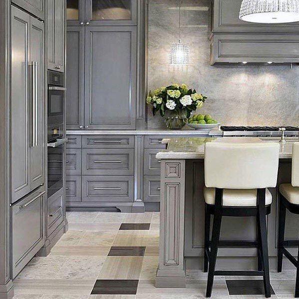 20 Ideas For Grey Kitchens Both: Top 50 Best Grey Kitchen Ideas