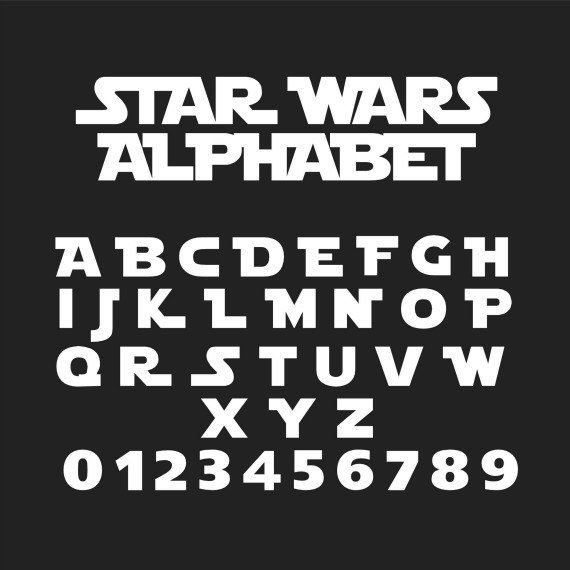 Star Wars Font, Star Wars Alphabet, Star Wars Svg, Star Wars Cut Files, Studio Files, Cricut Cut Files, Svg Fonts, Vector Cut Files by LTCreativeDesigns on Etsy https://www.etsy.com/listing/84164564/star-wars-font-star-wars-alphabet-star