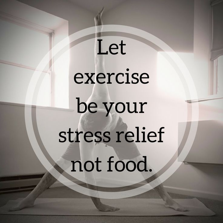 Let exercise be your stress relief not food. http://newestweightloss.com #weightloss #diet #weightlossmotivation #fitspo