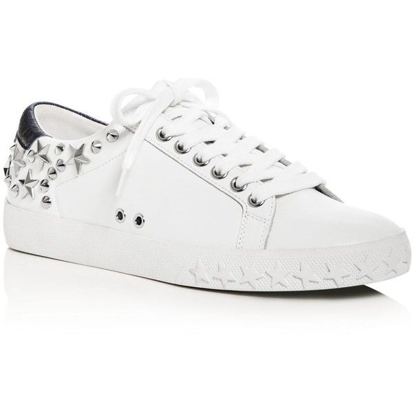 Ash Dazed Star Stud Lace Up Sneakers (£147) ❤ liked on Polyvore featuring shoes, sneakers, ash trainers, ash sneakers, lace up sneakers, star shoes and studded sneakers