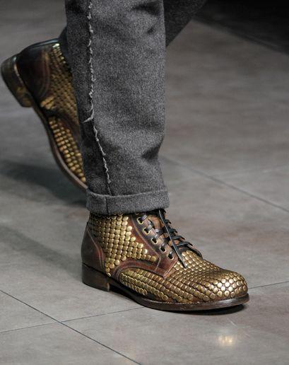 Mens Fall 2012 Metal Shoes: Men's Fall Fashion Trend: Fashion Shows: GQ