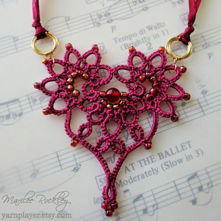 Yarnplayer's Tatting Blog: Coming soon in the Winter issue of Belle Armoire Jewelry