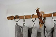 Tree Branch Curtain Rod |Inexpensive Ways to Spruce Up Your Living Room Curtains