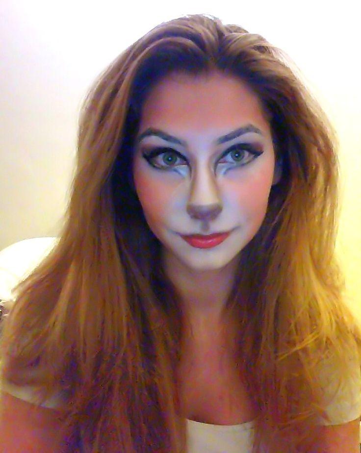 Nala halloween makeup. This is stinkin cute!