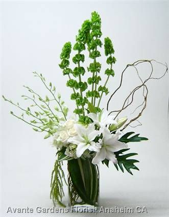 contemporary orchid floral arrangements | ... Floral Design Gallery - Anaheim, CA : White and Green Contemporary