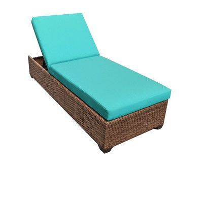 Laguna Chaise Lounge with Cushions Finish: Aruba - http://delanico.com/chaise-lounges/laguna-chaise-lounge-with-cushions-finish-aruba-656403097/