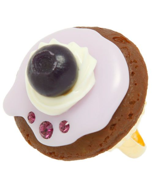 Q-pot. Blueberry CupCake Ring from JAPAN B704 0789
