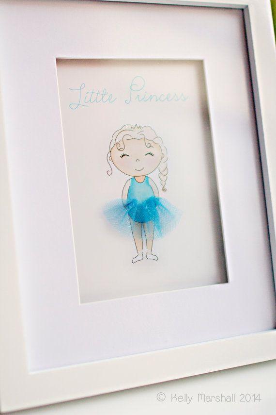 ♥ Little Princess ♥ Children's 3D Art Print by Sweet Cheeks Images. $21.00 AUD