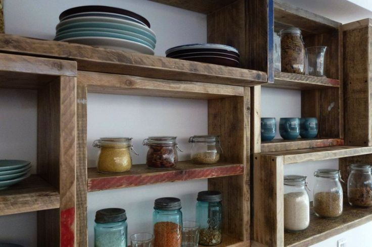 Kitchen storage from reclaimed wood via:relicreations