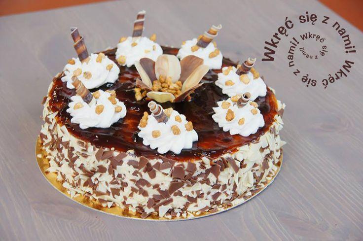 Przepyszny tort o smaku toffie. Nie tylko ładnie wygląda - jeszcze lepiej smakuje ;) #Dolcelatte #Toffie #Tort #Ciasta #Cafegóralodowa #Góralodowa #Słupsk #Ustka