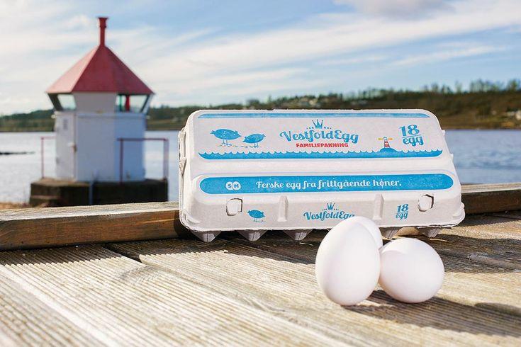 Pakningsdesign for VestfoldEgg! Se mer av prosjektet på http://www.norgesdesign.no/Pakningsdesign-vestfoldegg  #egg #pakningsdesign #emballasjedesign #norgesdesign