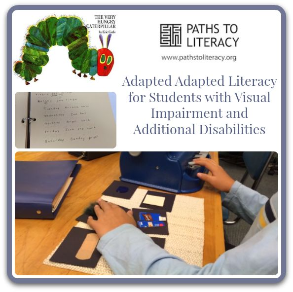 SLP Megan Mogan shares great ideas for adapting literacy for children with visual impairments and multiple disabilities.