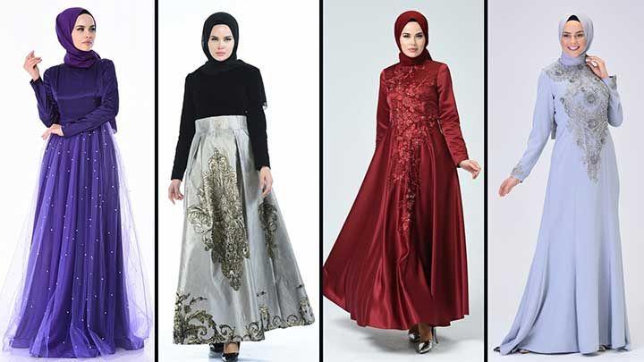 2020 Sefamerve Tesettur Abiye Elbise Modelleri 14 30 2020 Elbise Modelleri Elbise Cizgili Elbise