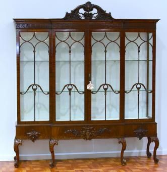 19th Century Chippendale Mahogany Display Cabinet, circa 1880.  Would LOVE to have this to fill with antique china.