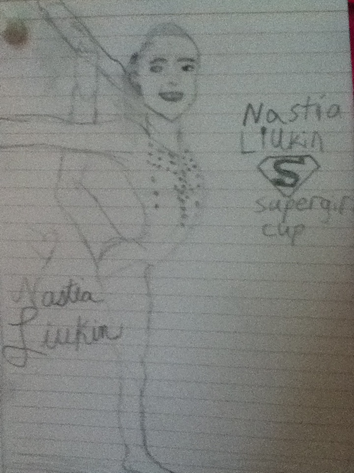 heres my drawing of nastia liukin from a long time ago so not that great