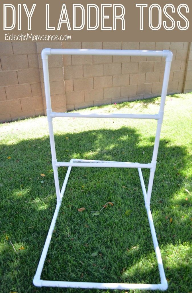 DIY Ladder Toss- fun outdoor game, perfect for all ages.