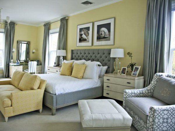 Die besten 25+ Grau gelbe schlafzimmer Ideen auf Pinterest gelb - schlafzimmer schwarz wei