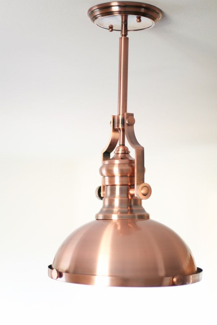 Copper Light Fixture For Kitchen Also Feels Nautical Copper Pendant Lights Kitchen Copper Lighting Copper Light Fixture Kitchen