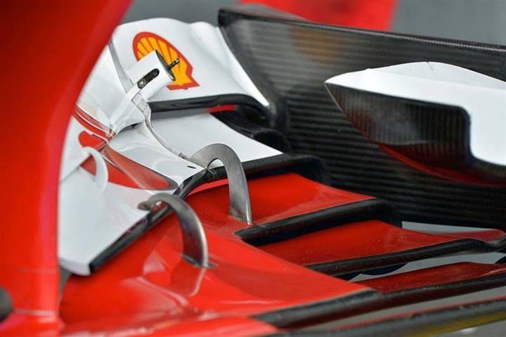 F1 Buen acercamiento del alerón delantero de la Ferrari F138