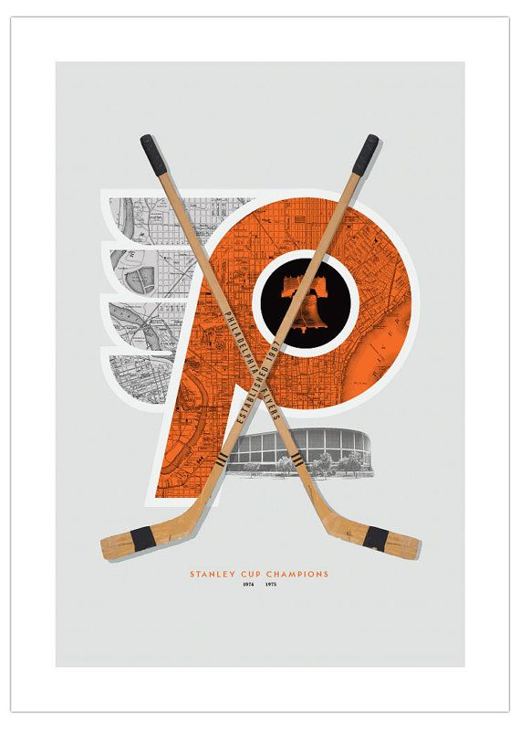 Philadelphia Flyers-inspired Hockey Art Print