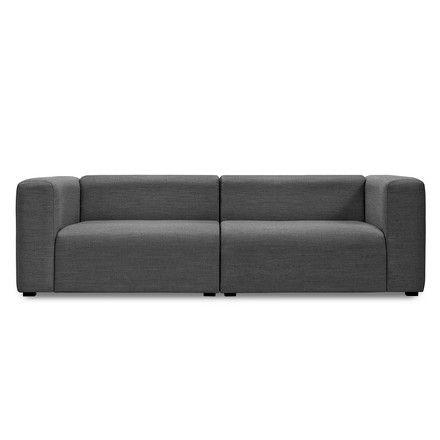 Hay - Mags Sofa ohne Buttons, 2,5-Sitzer, Surface 190 dunkelgrau Dunkelgrau T:95 H:67 B:228