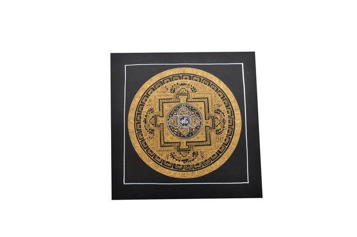 Traditional Tibetan Buddhist Golo Mandala Thangka Painting Nepalese Art & Paint