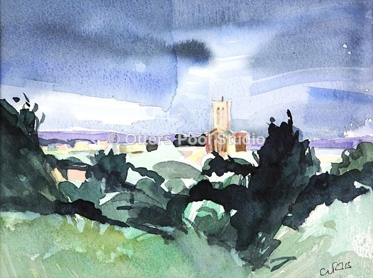 """Guildford Cathedral"" by Andrew Curtis.  Fine art print. Limited Edition of 30.   Image approx. 290x220mm"