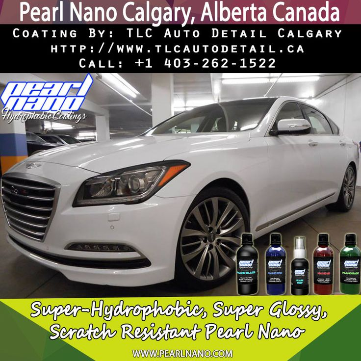 This 2015 Hyundai Genesis is shining bright now that it's received our paint correction & ceramic protection treatment locking in the shine with the super hydrophobic Pearl Nano Coatings paint wheels trim and glass . Pearl Nano Coating by TLC Auto Detail Calgary. For Interested Distributors and Dealers of Pearl Nano please contact Dave: Dave@PearlUSA.net or Call: 808 779–7163. Visit Pearlnano.com for more information. #TLC #autodetail #pearlnano #ceramic #protectivecoatings #pearlnano #calga