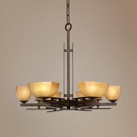"""Lineage Collection 29"""" Wide Six Light Chandelier"""