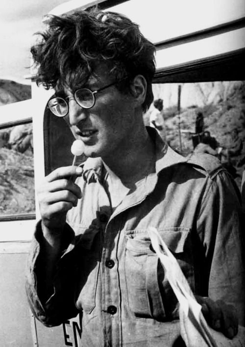 John Lennon  in how i won the war good movie he looks like Harry Potter