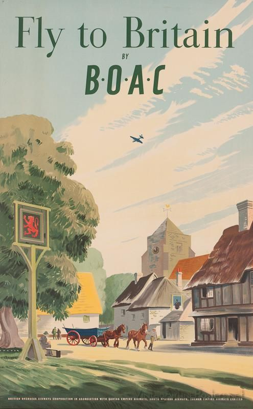 Fly to Britain by BOAC - How lovely, how English!