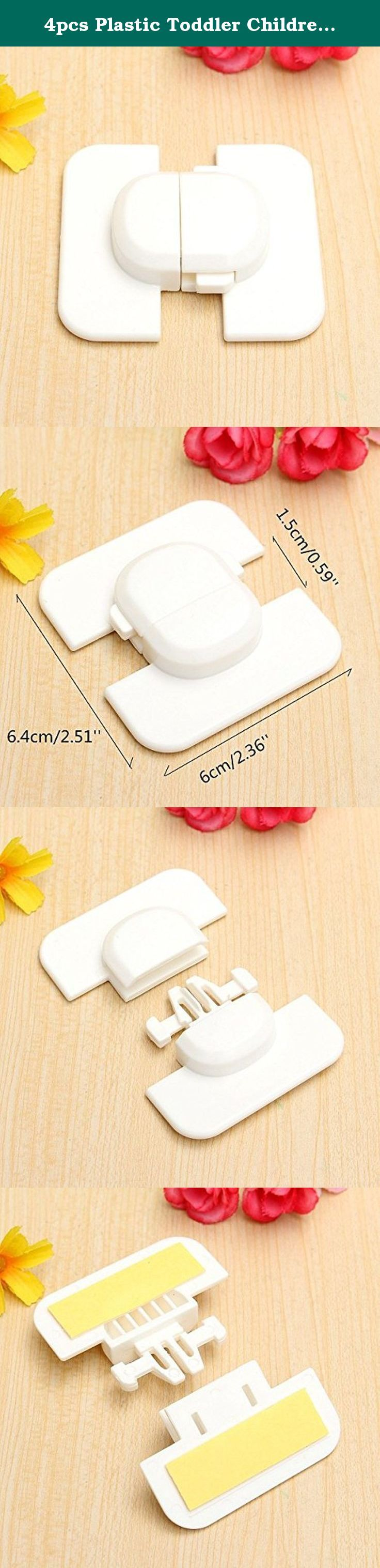 4pcs Plastic Toddler Children Baby Kids Fridge Drawer Cupboard Cabinet Safety Locks. Description : 4pcs Plastic Toddler Children Baby Kids Fridge Drawer Cupboard Cabinet Safety Locks Made of high quality plastic material,durable Perfect for the refrigerator door, cover in the home. To prevent the baby swallowed something by curiosity, reduce the unnecessary injury. It is a good way to protect your baby. Specification : Material : Plastic Color : White Size : 6 x 6.4cm/2.36'' x…