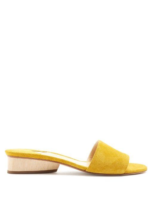 PAUL ANDREW Lina suede slides. #paulandrew #shoes #sandals