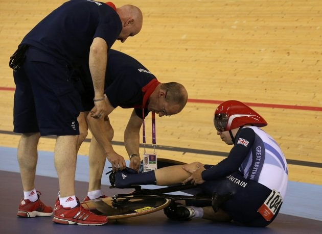 British cyclist Philip Hindes admitted to intentionally crashing during the men's Team Sprint because he wasn't satisfied with his start. Riders are allowed a restart if they crash or have mechanical errors.