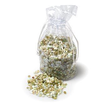 MINI POLISHED STONES - gorgeous pastel glass stones for vase filler or scatter. 1 kg