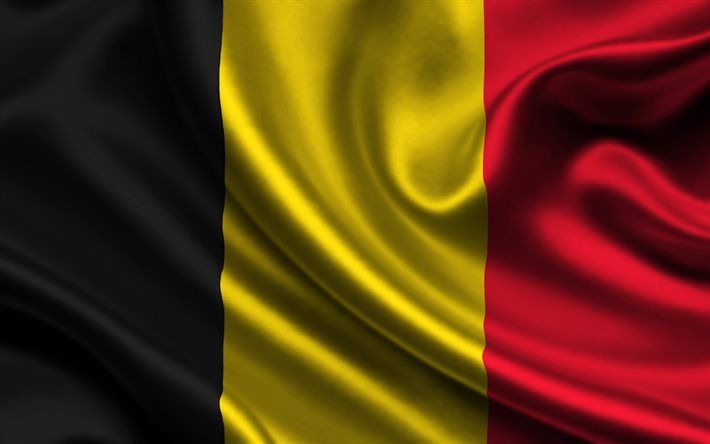 Belgian flag, 4k, silk, flag of Belgium, flags, Belgium flag