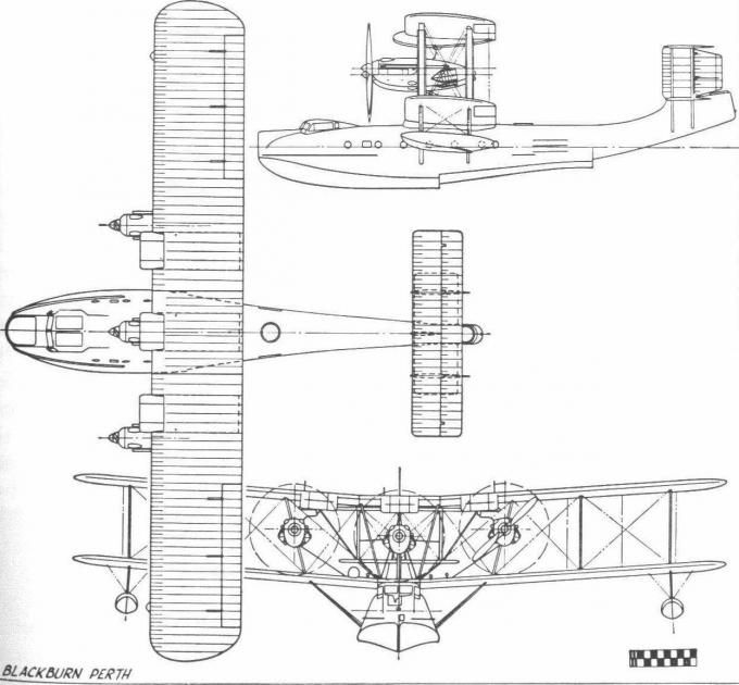 Летающая лодка Blackburn R.B.3A Perth. Великобритания