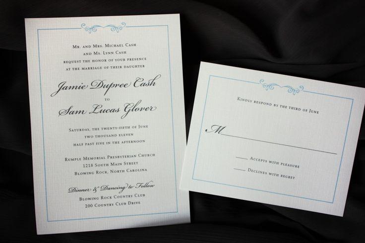 Basic Wedding Invitation Wording: 1000+ Images About Simple Wedding Invitations On Pinterest