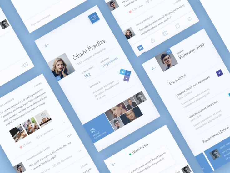 LinkedIn Redesign Screens by Iswanto Arif