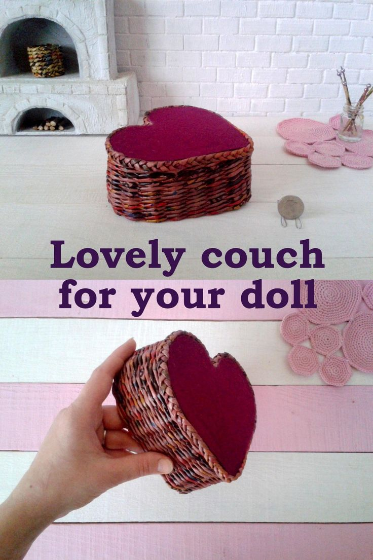 Valentine's day wicker couch. This couch is a heart shape and had a cozy, fabric top. Will be the perfect seat for your Valentine's day diorama! ♥♥♥ Just love on the air. :D More photo in my shop. Price is 18 usd + shipping. If you're thinking why I don't say anything about this week sale – just this week is last in this year, so I run a big sale for many items. It is 10% off.#wickerhandmade #valentineday #valentinedoll #lovecouch #couchfordoll #lovelyseat #1/6scale