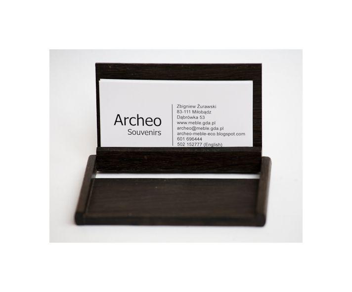 Business card holder (open).