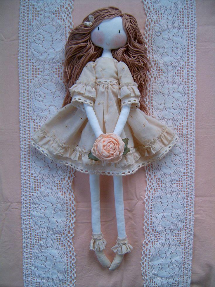 fabric doll, Handmade rag dolls.soft doll, main poupée de ...