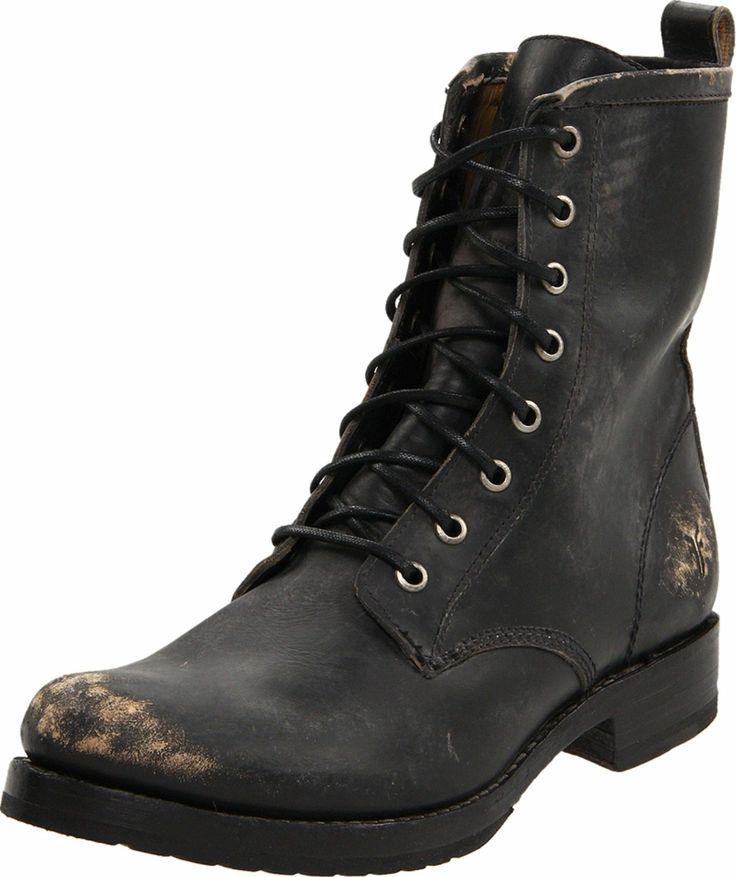 FRYE Women's Veronica Combat Boot designer shoes, handbags