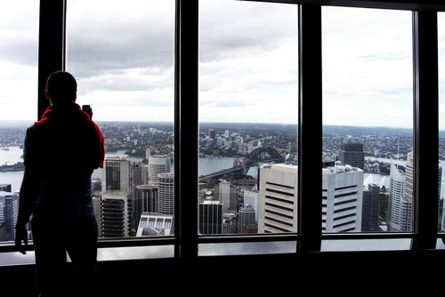 Looking out over Sydney