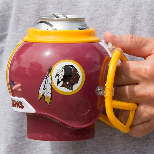 FanMug keeps cold beverages cold and hot beverage hot making the perfect gift for a Washington Redskins fan.