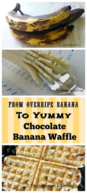 Bitten by that creative Spider: Banana Chocolate Waffles - a good & fast way to us...