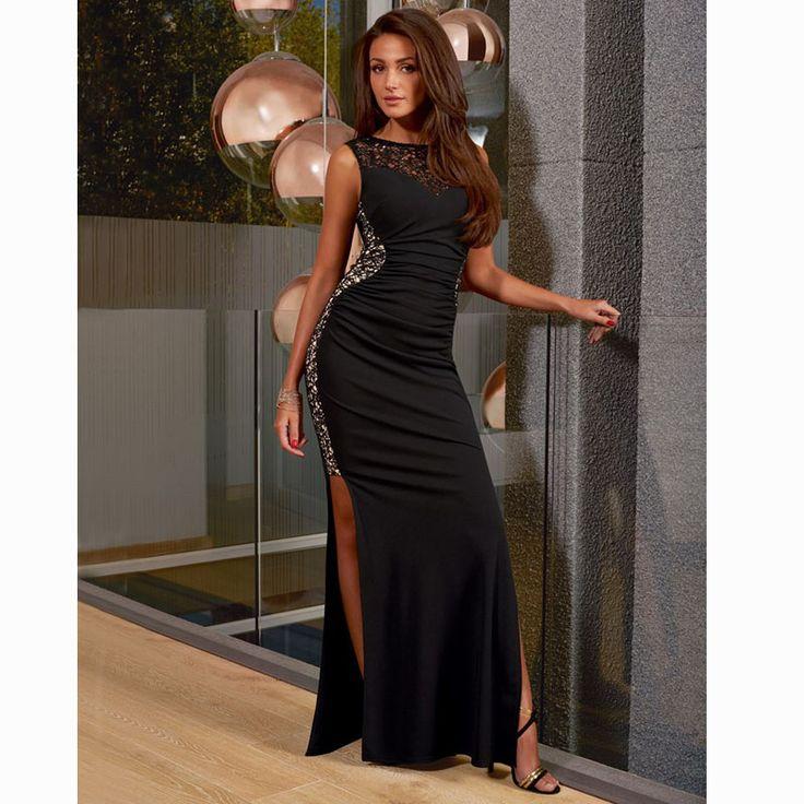 Womens Sexy Dresses Party Night Club Dress Vestido Longo Summer Ladies Black…